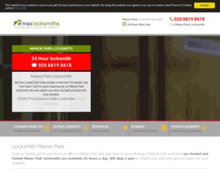 manorpark-locksmiths.co.uk screenshot