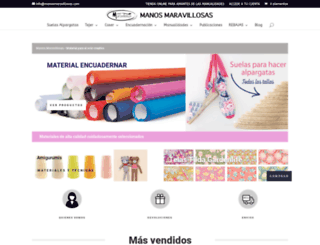manosmaravillosas.com screenshot