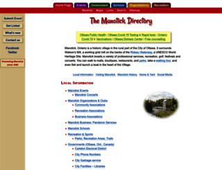 manotick.net screenshot