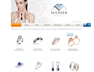 manserjewellery.co.za screenshot