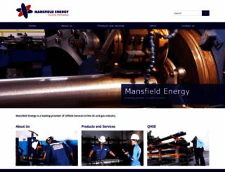 mansfieldenergy.com screenshot