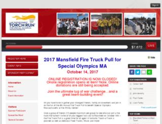 mansfieldfiretruckpull.kintera.org screenshot