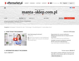 manta-sklep.com.pl screenshot