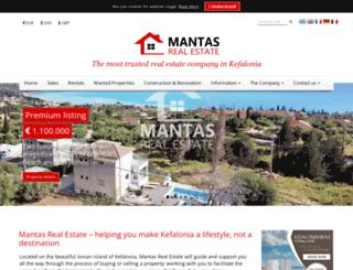 mantasrealestate.com screenshot