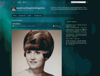 manteachingkindergarten.wordpress.com screenshot
