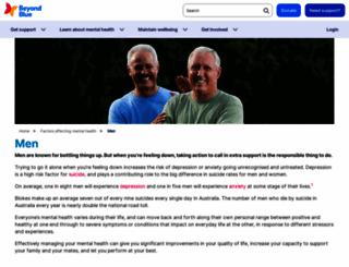 mantherapy.org.au screenshot