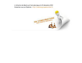 mantis.groupemoniteur.fr screenshot
