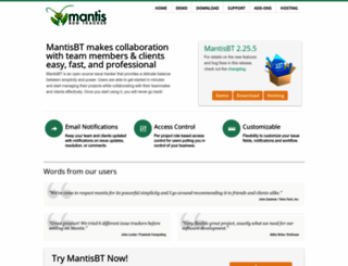 mantisbt.org screenshot