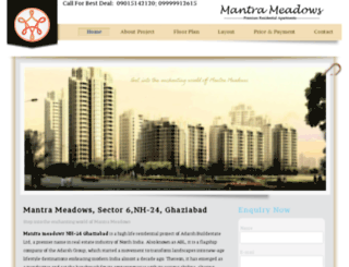 mantrameadows.co.in screenshot