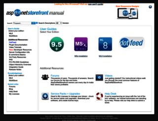 manual.aspdotnetstorefront.com screenshot