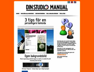 manual.dinstudio.se screenshot