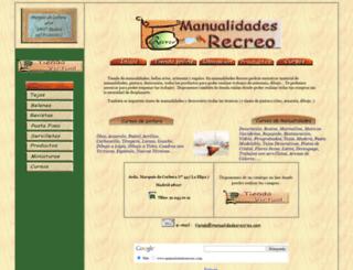 manualidadesrecreo.com screenshot