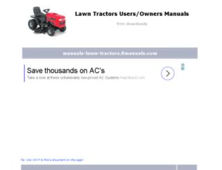 manuals-lawn-tractors1.9manuals.com screenshot