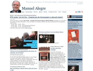 manuelalegre.com screenshot