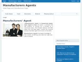 manufacturer-agent.com screenshot