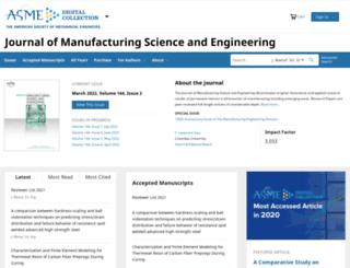 manufacturingscience.asmedigitalcollection.asme.org screenshot