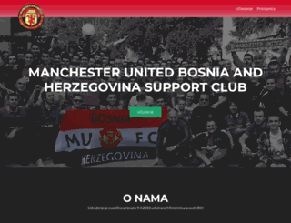 manutd-bih.com screenshot