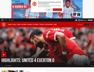 manutdshopusa.com screenshot