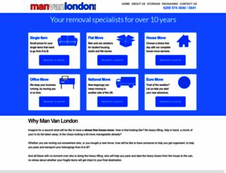 manvanlondon.co.uk screenshot