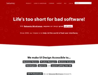 manvertising.mybalsamiq.com screenshot