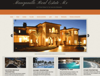 manzanillovacrentals.com screenshot