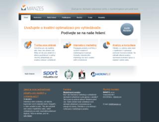 manzes.cz screenshot