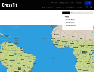 map.crossfit.com screenshot