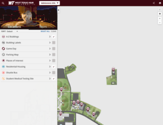 map.wtamu.edu screenshot