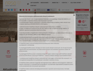 mapa.nysa.pl screenshot