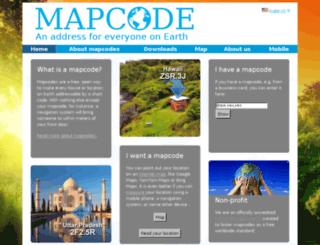 mapcode.co.bw screenshot