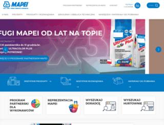 mapei.pl screenshot