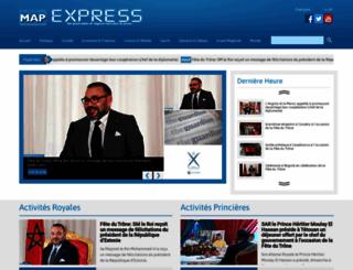 mapexpress.ma screenshot