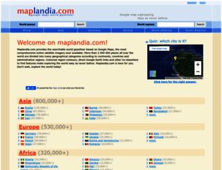 maplandia.com screenshot