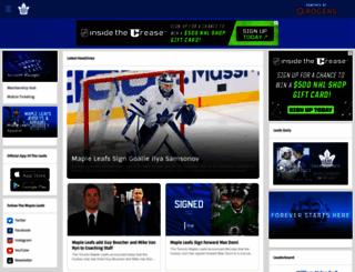 mapleleafs.com screenshot