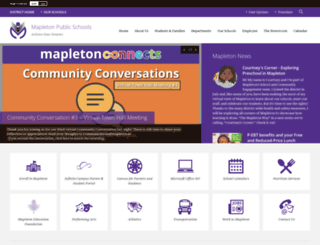 mapleton.us screenshot