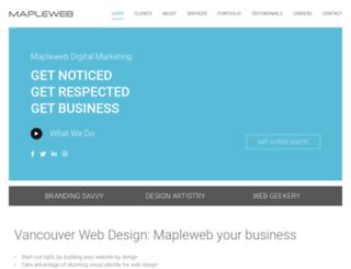 mapleweb.ca screenshot