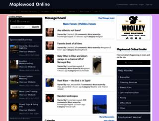 maplewoodonline.com screenshot