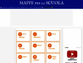 mappe-scuola.com screenshot