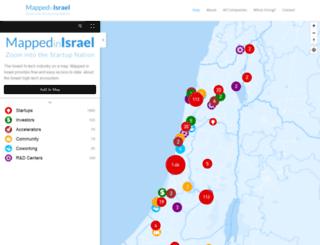 mappedinisrael.com screenshot