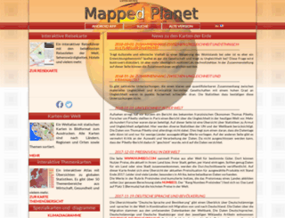 mappedplanet.com screenshot