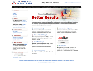 mappinganalytics.com screenshot