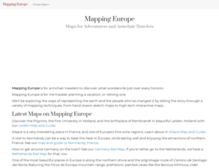 mappingeurope.com screenshot