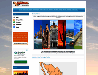 maps-of-mexico.com screenshot