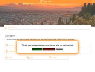 maps-spain.com screenshot