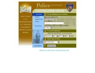 maps.baltimorepolice.org screenshot