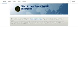 maps.cityoflonetree.com screenshot
