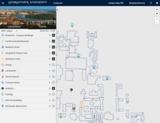 maps.georgetown.edu screenshot