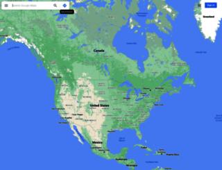 maps.google.co.zm screenshot