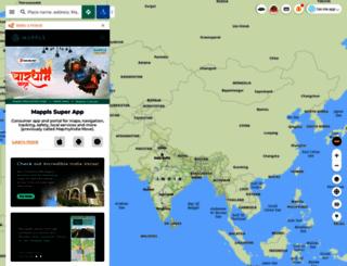 maps.mapmyindia.com screenshot