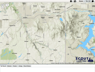 maps.spokanecounty.org screenshot